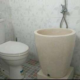 Bak mandi marmer minimalis handmade teraso T65
