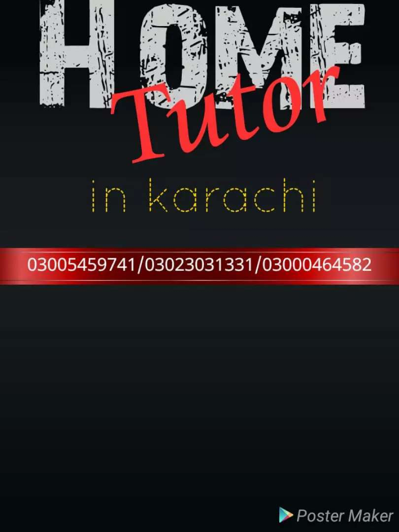 Home tutor required in karachi 0