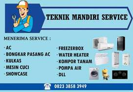 Jasa pasang Ac, Isi freon Ac - Service Ac Mesin cuci Kulkas Showcase
