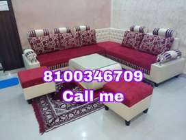 Red n cream sofa at low cost