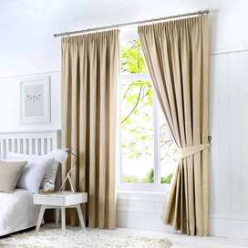 Curtains in plain Cotton and Silk