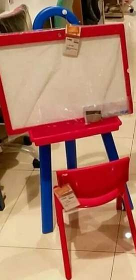 Jual papan tulis anak bolak balik+ kursi