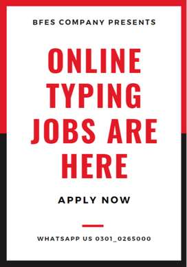 Appreciated online typing job opportunity in Pakistan you can apply it