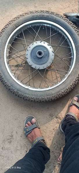 Bullet tyres and wheels