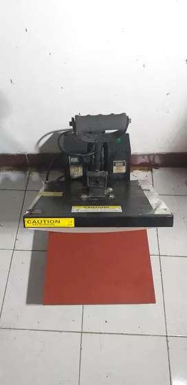 mesin heat press kaos