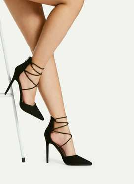 Criss cross strappy heels from shein
