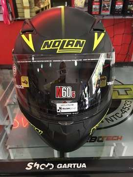 NEW Nolan N60.5 Hexagon Yellow Flat not Shoei Arai HJC Shark KYT LS2