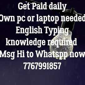 Earn Income Entering Simple Data typing work