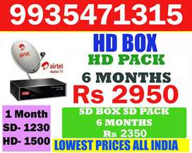 AIRTEL DIGITAL TV LOWEST PRICES ONLINE SALE TATA SKY DISH D2H TATASKY