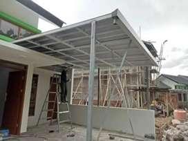0000074canopy minimalis terbaru atap spandek kuat dan anti karat