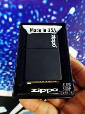 Korek api Zippo black matte denting nyaring