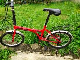 "Langka. Sepeda lipat ITALY ALEOCA pieghevole 20"" 6 speed . siap pakai"