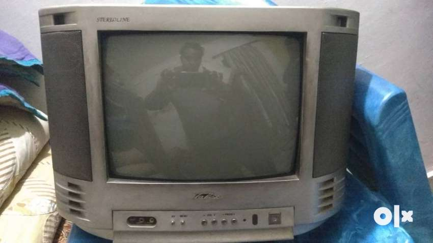 Television With Remote 0