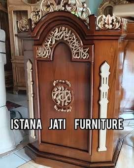 Ready stock mimbar masjid podium mimbar kayu jati