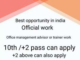 Urgent requirement for girls and boys, part time and full time