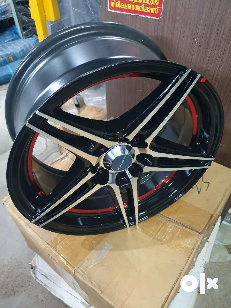 """15"""" alloy wheels  4pcs 0"""