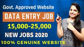 Part time job Home Based work Typing Work Data entry JOB online