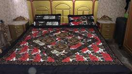 Quilted bed spread embriodery