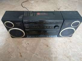 Sony Radio CFS-W380S dual stereo speakers Can be connected to mobile.