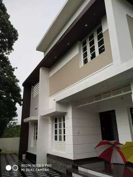 5.5 cent land with 1600 sqft new house at near kanjoor,airport,aluva
