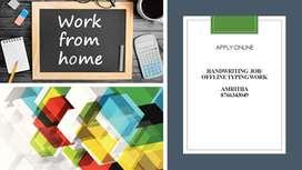 HANDWRITING JOB-WORK FROM HOME-OFFLINE TYPING JOB