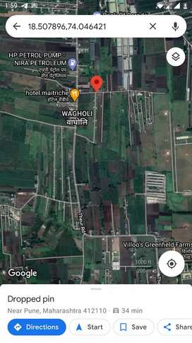 Open plot on rent 100 meter away from Solapur-theur road