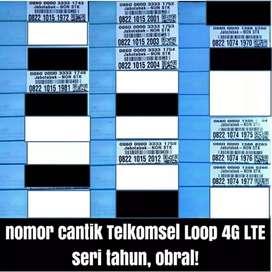Nomor cantik Telkomsel LOOP 4G lte seri tahun lahir