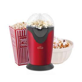 Pop Corn Maker heat and caramel-scented, twirled immediately from a