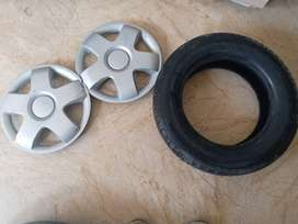Mehran 2 wheel cap and spare wheel tyre for sale