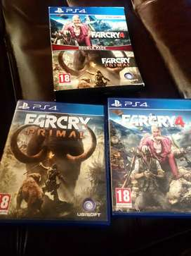 Far Cry 4 Ps4 + Far Cry Primal Double Pack Ps4 Games