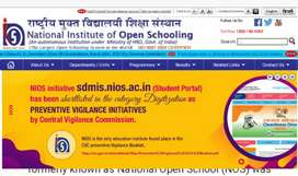 Offering tution class for Nios students ,10th and +2