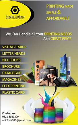 Top offset printing press services in Lahore