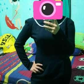 Dress navy ukuran s