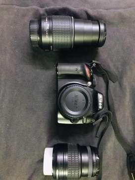 Nikon D3200 Dslr camera with 2 lenses