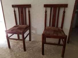 6 chairs with 1 round dining table