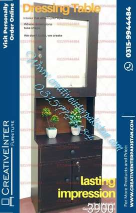 Dressing table in low price bed sofa set center table wardrobe