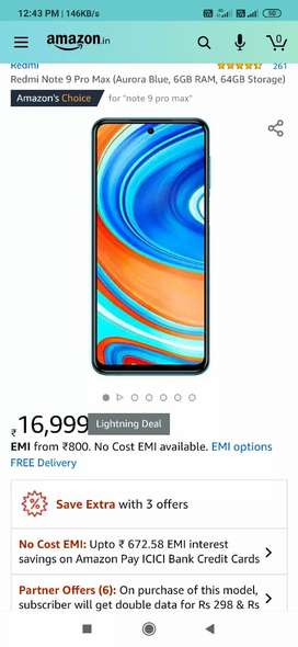 brand new mi note 9pro max 6/64 gb