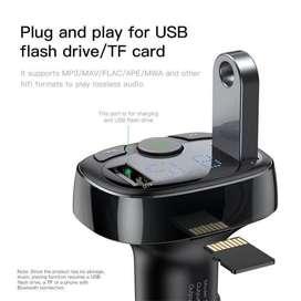 Transmitter Modulator Car Charger Dual USB Port&MP3 BASEUS ORIGINAL