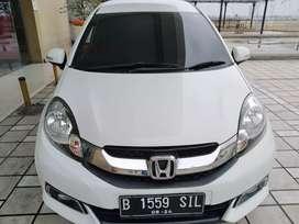 Honda Dp 8 Jt Mobilio E Prestige Cvt 1.5 Automatic 2014 Putih Murah