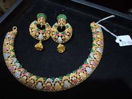 $ilver 925Jewellery with gold plated  in whole sale rate
