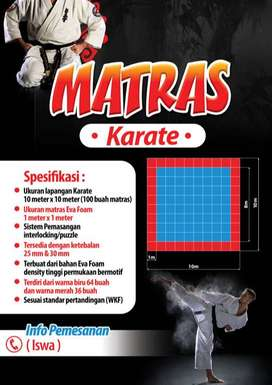 Matras Beladiri Karate standar WKF warna lengkap