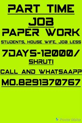 Good opportunity good hand writing job part time