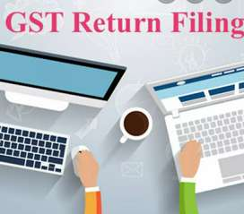 Gst return filling and accounting part time