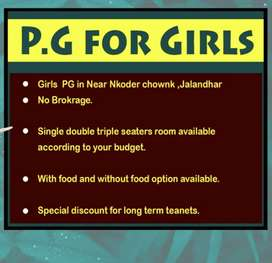 PG for Girls and working bachelor's
