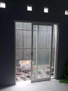 Pintu kaca taman belakang pintu lipat pintu sleding geser