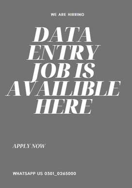 We are honour to invite you to data entry job online from your home