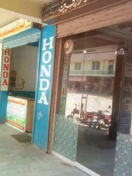 At commercial area Shop for rent at Ghouri Garden Lathrar Road