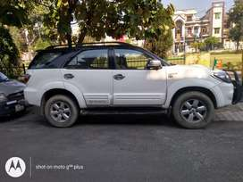 Fortuner4x4 with black roof and other modification done inside the car