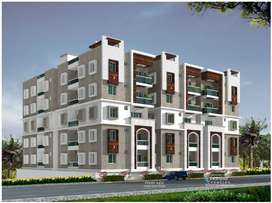 3bhk, 1571 sft Flats are Available for sale at Golden sand Colony