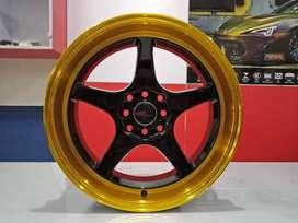 Pelek Mobil HSR AVALON KS096 R17x75-85 PCD8x100-114,3 et35 BKGOLD